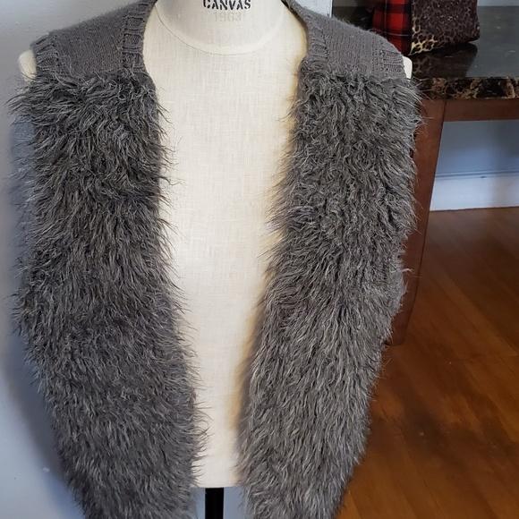 Xhilaration Jackets & Blazers - FAUX Fur /Sweater Vest.